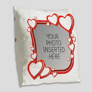 Sizes of Love Burlap Throw Pillow
