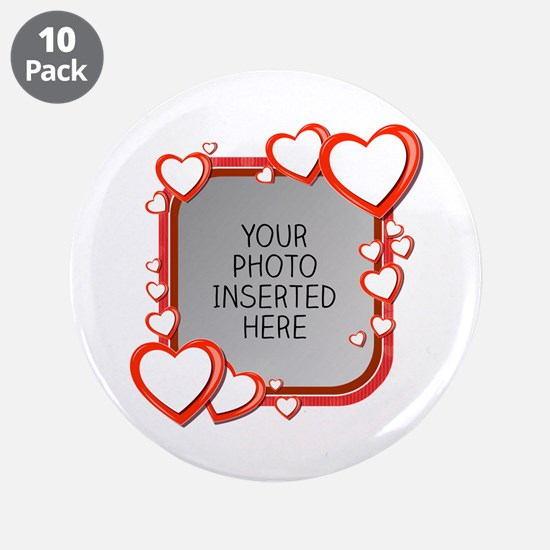 """Sizes of Love 3.5"""" Button (10 pack)"""