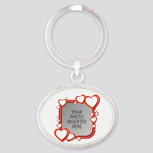Sizes of Love Oval Keychain
