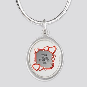 Sizes of Love Silver Oval Necklace