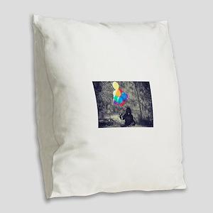 ape balloons Burlap Throw Pillow