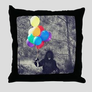 ape balloons Throw Pillow