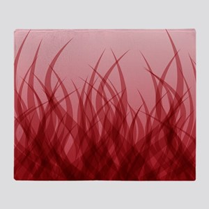 Abstract Grass Design Red Throw Blanket