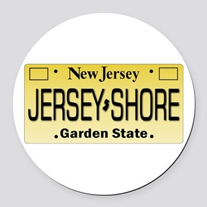 Jersey Shore Tag Giftware Round Car Magnet