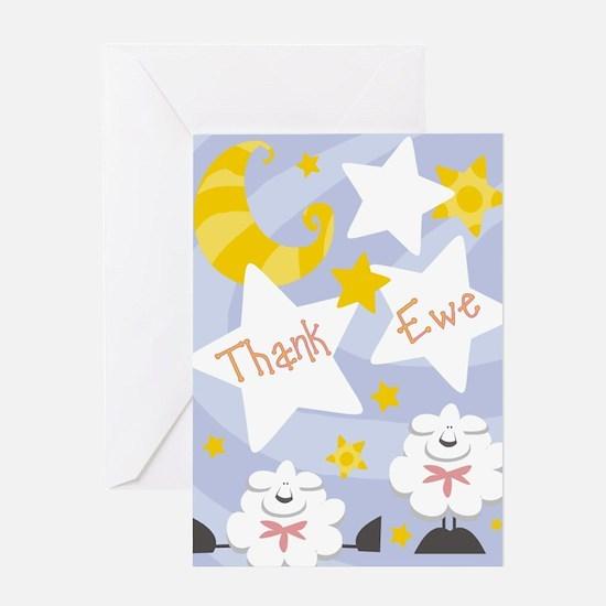 Sheep Thank Ewe Greeting Card