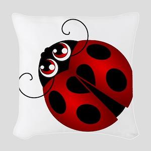 Ladybug Woven Throw Pillow