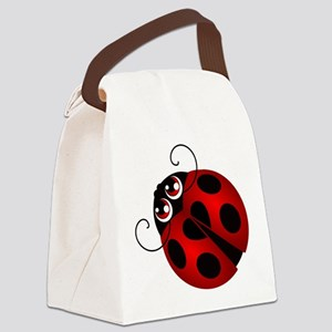 Ladybug Canvas Lunch Bag