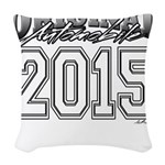 2015 College Woven Throw Pillow