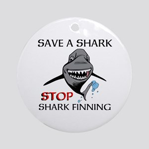 Stop Shark Finning Ornament (Round)