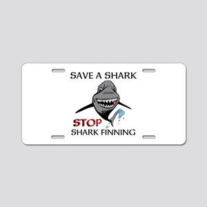 Stop Shark Finning Aluminum License Plate