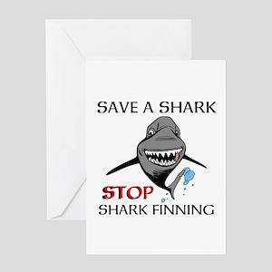 Stop Shark Finning Greeting Cards