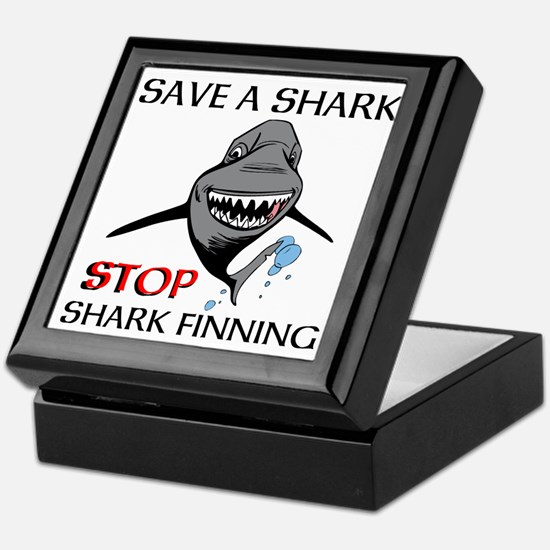 Stop Shark Finning Keepsake Box