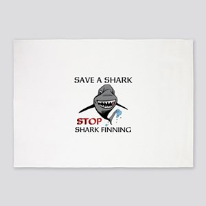 Stop Shark Finning 5'x7'Area Rug