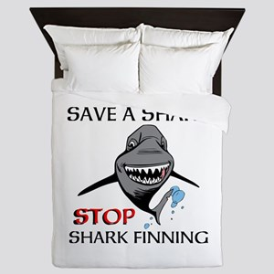 Stop Shark Finning Queen Duvet