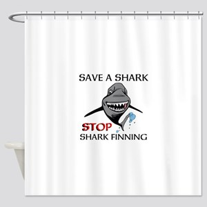 Stop Shark Finning Shower Curtain
