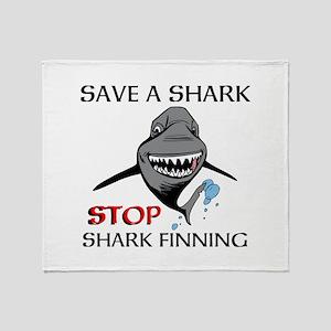 Stop Shark Finning Throw Blanket