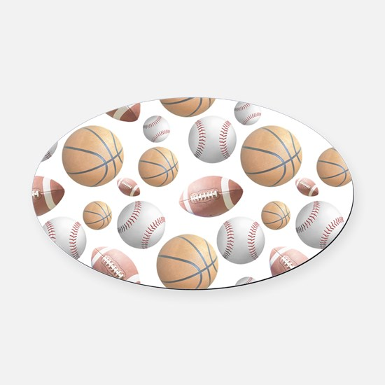 Court and Field Oval Car Magnet