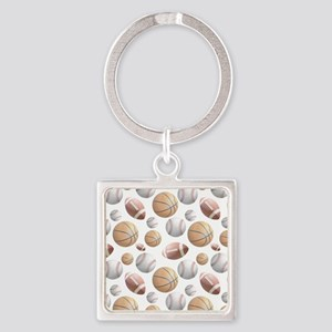 Court and Field Square Keychain