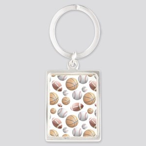 Court and Field Portrait Keychain