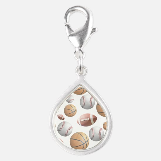 Court and Field Silver Teardrop Charm