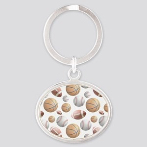 Court and Field Oval Keychain