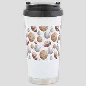 Court and Field Stainless Steel Travel Mug