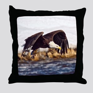 Soaring on the Wings of an Eagle Throw Pillow