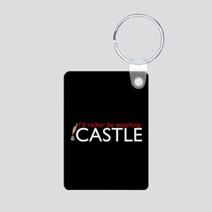 Castle TV Show Aluminum Photo Keychain