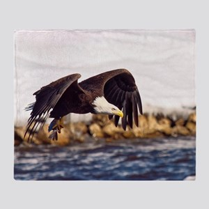Soaring on the Wings of an Eagle Throw Blanket