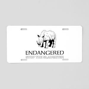 Endangered Rhino Aluminum License Plate