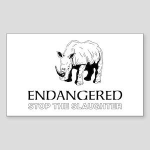 Endangered Rhino Sticker
