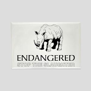 Endangered Rhino Magnets