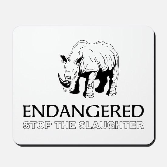 Endangered Rhino Mousepad