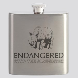 Endangered Rhino Flask