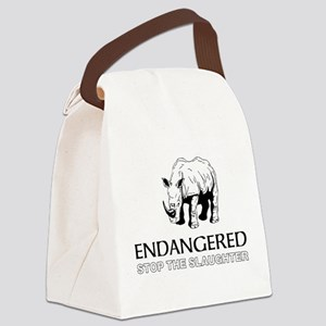 Endangered Rhino Canvas Lunch Bag
