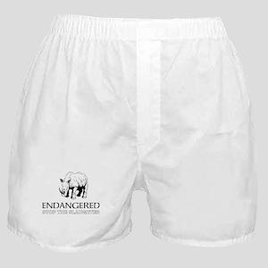Endangered Rhino Boxer Shorts
