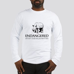 Endangered Rhino Long Sleeve T-Shirt