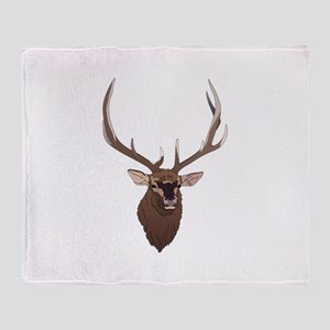 ELK HEAD Throw Blanket