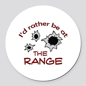 RATHER BE AT THE RANGE Round Car Magnet