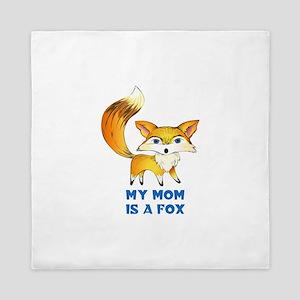 MOM IS A FOX Queen Duvet
