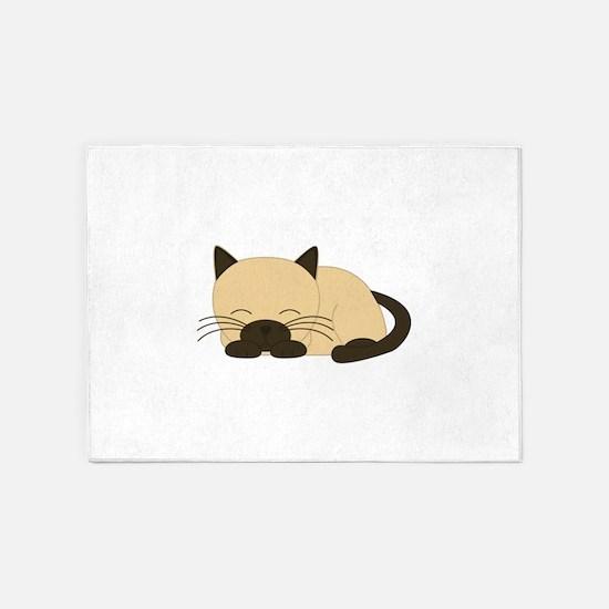 Siamese Cat 5'x7'Area Rug