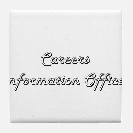 Careers Information Officer Classic J Tile Coaster