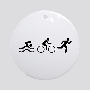 TRIATHLON LOGO Ornament (Round)