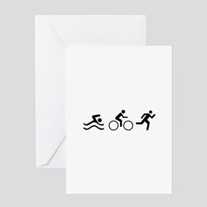 TRIATHLON LOGO Greeting Cards