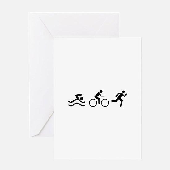TRIATHLON LOGO Greeting Cards