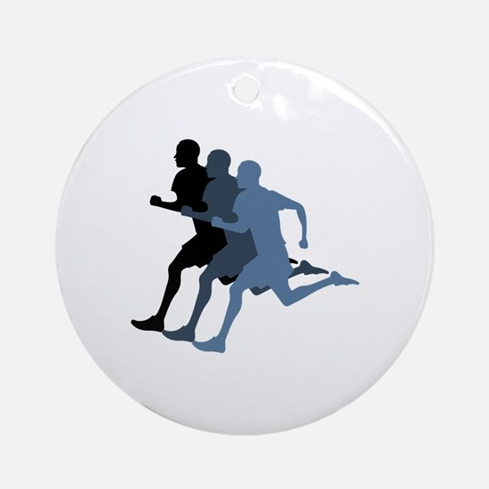 MALE RUNNER Ornament (Round)