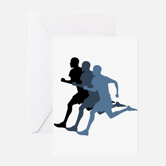 MALE RUNNER Greeting Cards