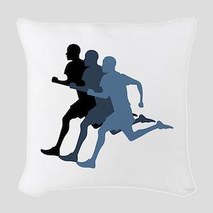 MALE RUNNER Woven Throw Pillow