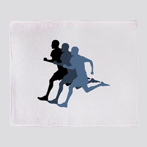 MALE RUNNER Throw Blanket