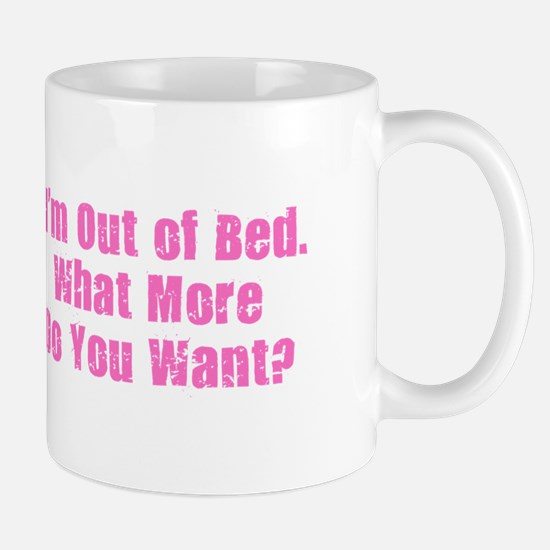 Out of Bed - Pink Mugs